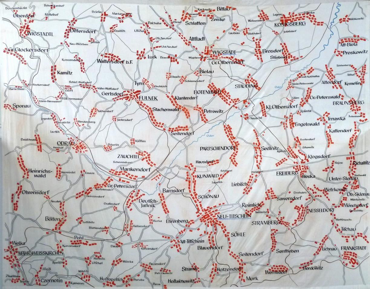 Karte des Kuhländchens
